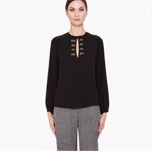 Diane Von Furstenberg Size 8 Florina Silk Blouse